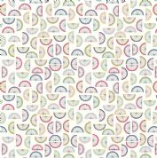 Lewis & Irene - Cocktail Party - 6534 - Citrus Fruit Segments on White - A352.1 - Cotton Fabric
